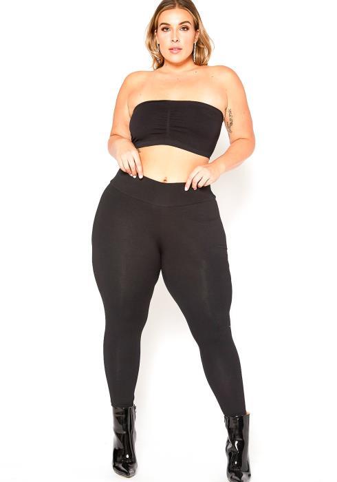 Asoph Plus Size High Waist Basic Leggings