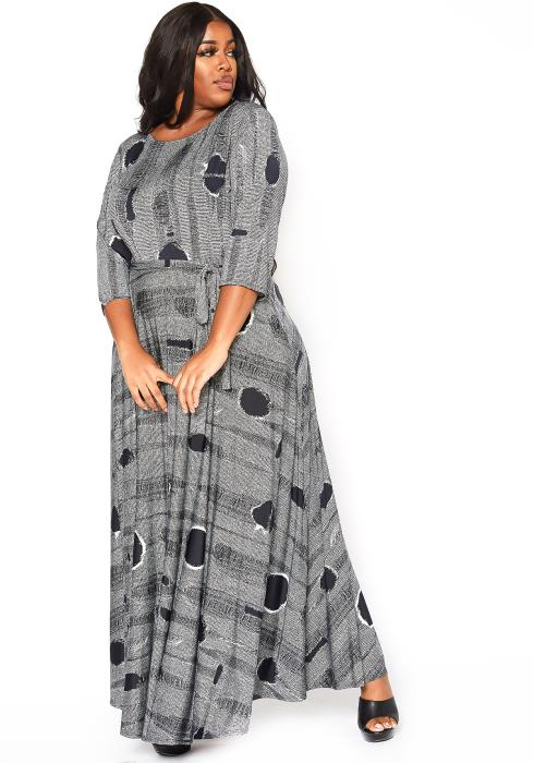 Asoph Plus Size Unforgettable Fit & Flare Maxi Dress