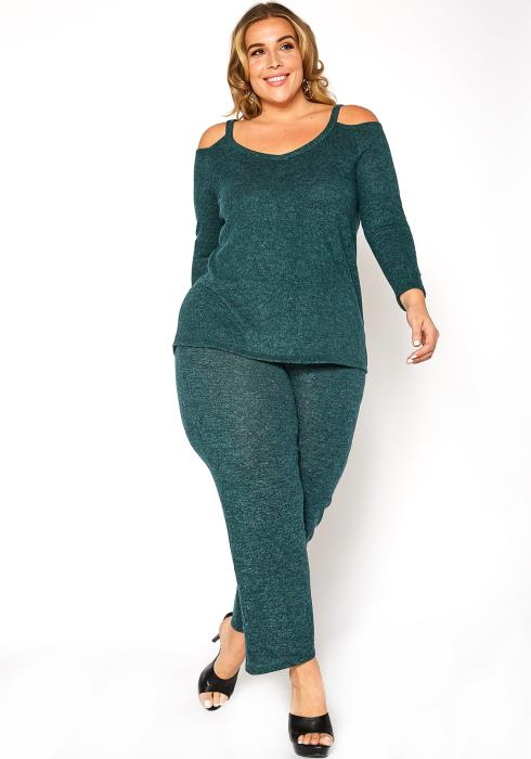 Asoph Plus Size Rise & Lounge Matching Teal Set