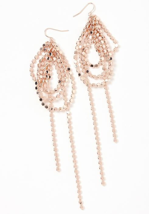 Extra Attention Rose Gold Drop Earrings