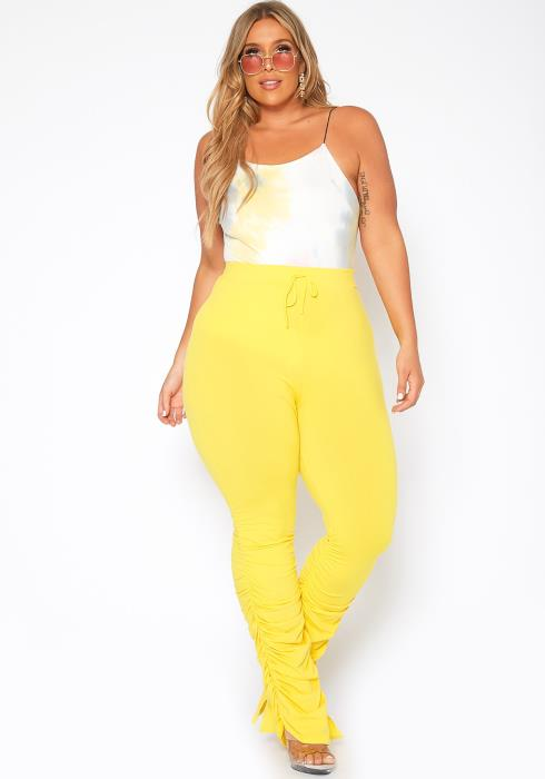 Asoph Plus Size Lounge Obsessed Ankle Stacked Fitted Pants