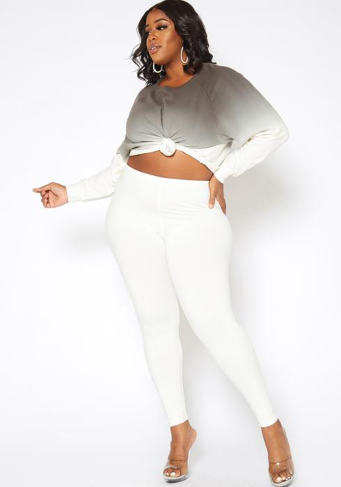 Asoph Plus Size Lounge Or Work Out Basic Leggings