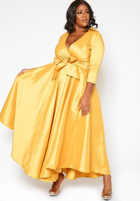 Asoph Plus Size Golden Hour Fit & Flare Maxi Dress