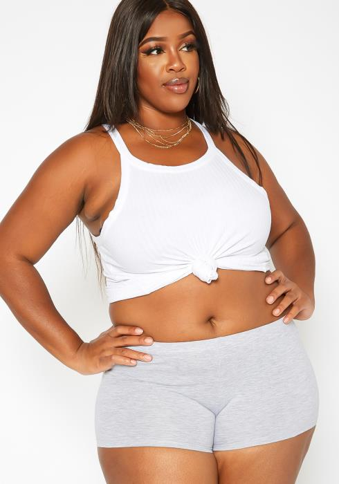 Asoph Plus Size Legging Biker Shorts