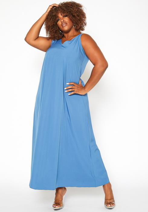 Asoph Plus Size Sleeveless Fit & Flare Maxi Dress