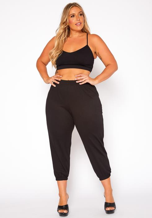 Asoph Plus Size Ankle Cuffed Lounge Joggers