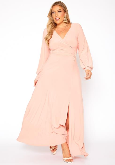 Asoph Plus Size Effortless Fit & Flare Maxi Dress