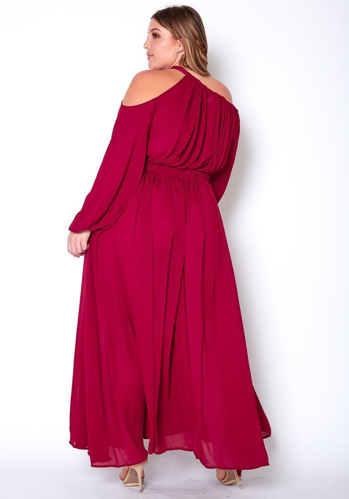 cd261b03f072 Asoph Plus Size Maxi Chiffon Women Clothing Dress   Asoph.com
