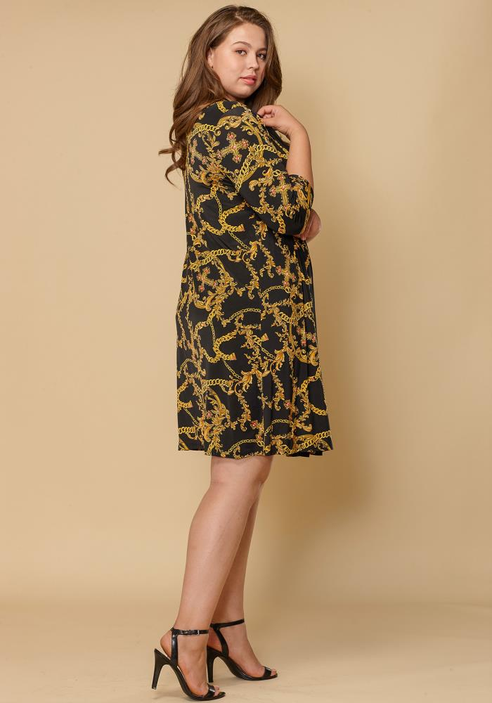c35f7351366 Asoph Plus Size Women Clothing Gold Chain Tube Dress Cardigan Set ...