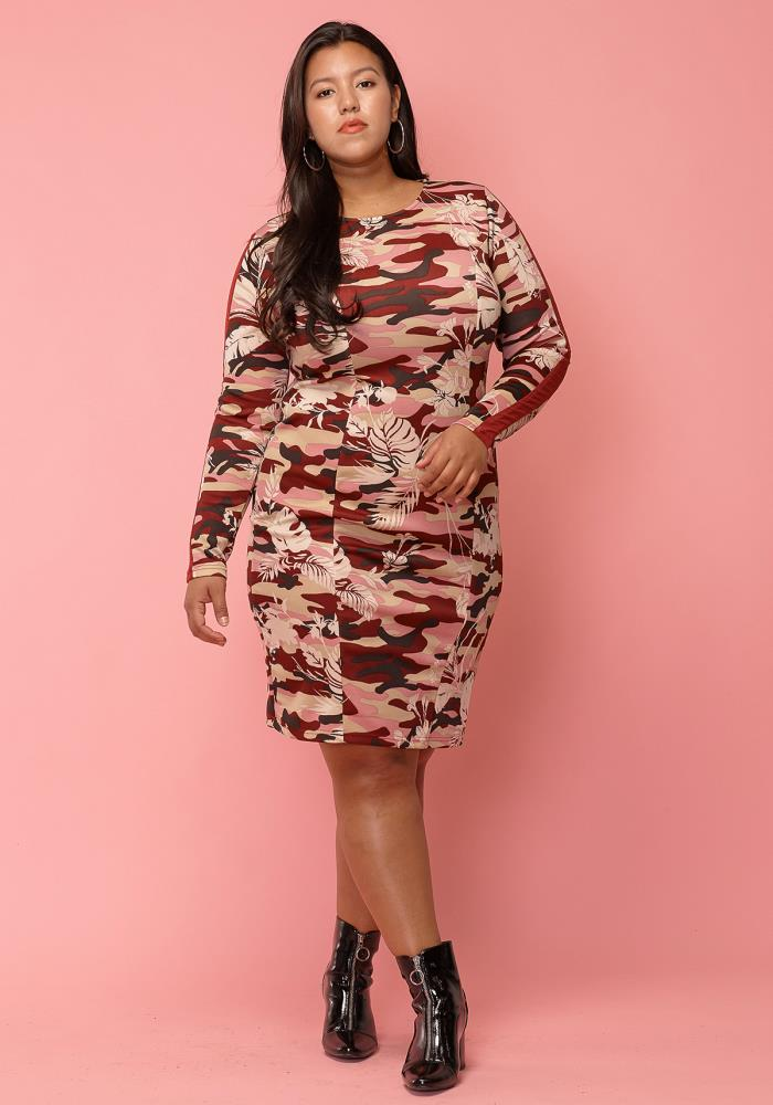 cd90a9c1ffe Previous. Next. 1  2  3. STYLE    2003043. Asoph Plus Size Camo Print  Bodycon Dress
