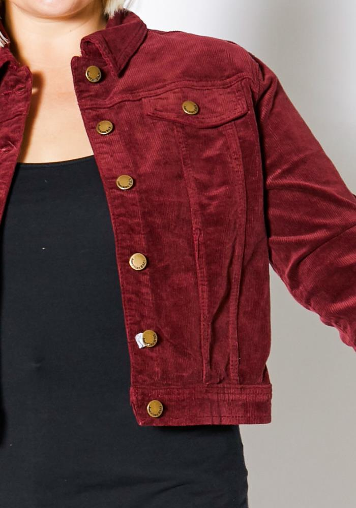 c575ac397b Previous. Next. 1  2  3. STYLE    2003054. Asoph Plus Size Corduroy Button  Up Jacket