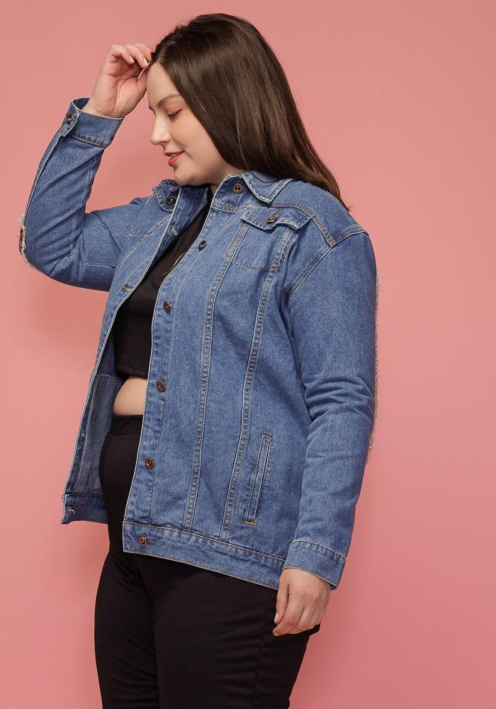 be5d857156 Asoph Plus Size Denim Jacket