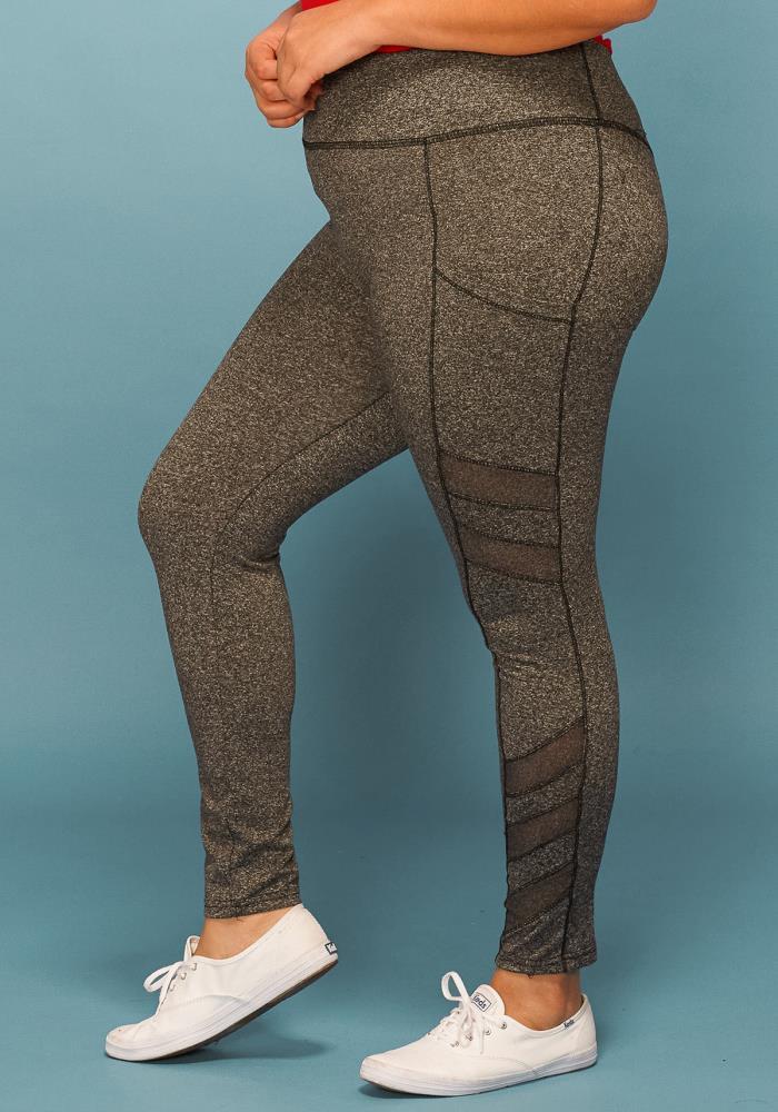 Plus Size Sheer Ruffle Mesh Net Casual Cover Pants Leggings 4 Colors 1X 2X 3X