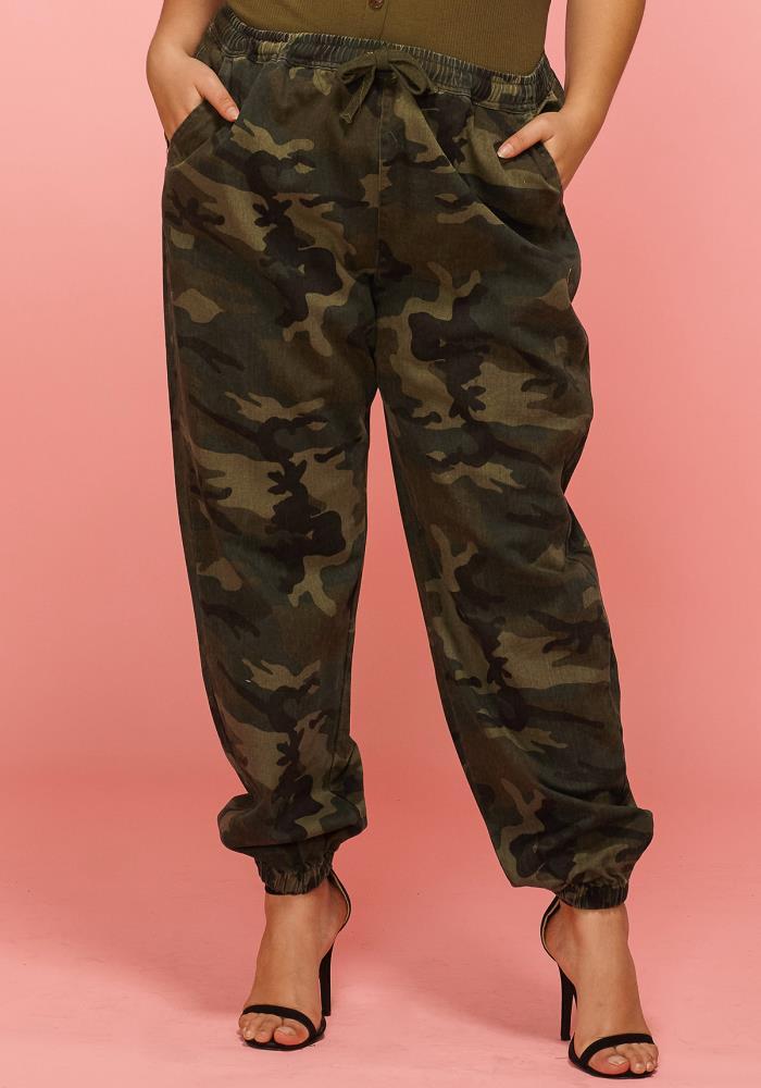 ab83d0ea44afd Asoph Plus Size Camo Print Baggy Pants