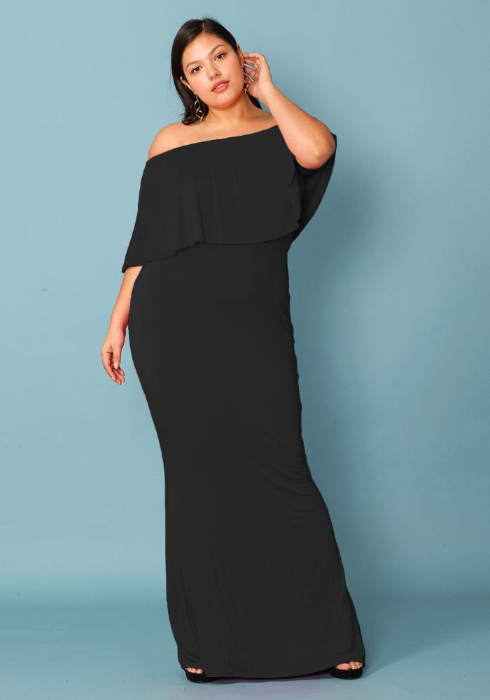 Plus Size Tube Top Bodycon Maxi Dress | Asoph.com