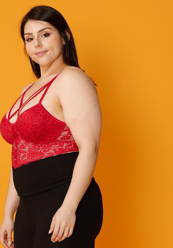 33e769fa Asoph Plus Size Sexy Strappy Bralette   Asoph.com
