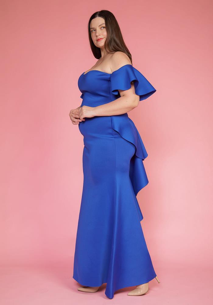 Asoph Plus Size Elegant Off Shoulder Maxi Evening Dress | Asoph.com