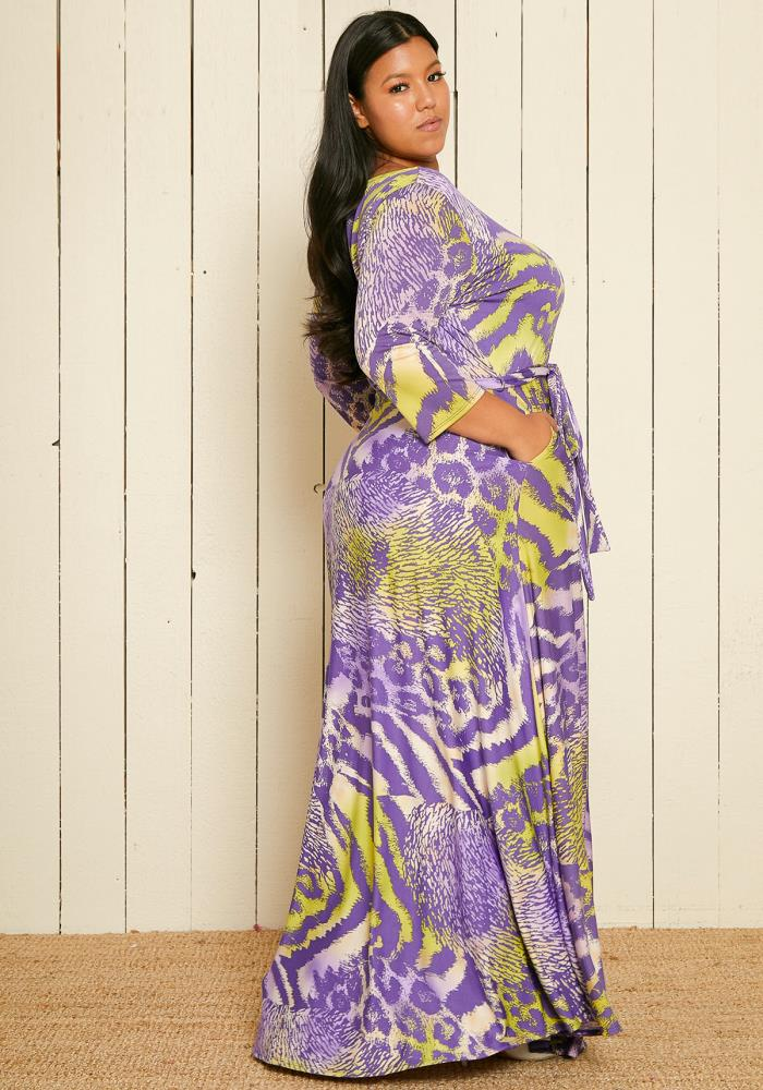 2fe27036cc9 Asoph Plus Size Multi Leopard Print Maxi Dress | Asoph.com