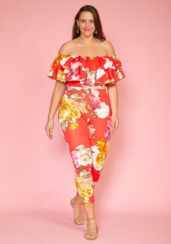 20f0d1c8829 Previous. Next. 1  2  3. STYLE    2005547. Asoph Plus Size Floral Ruffle  Jumpsuit