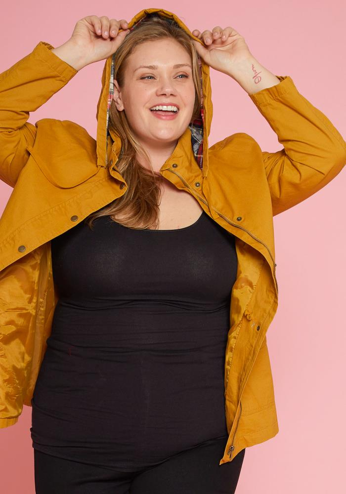 6fb9e93d3f Previous. Next. 1  2  3. STYLE    2005653. Asoph Plus Size Zip Up Jacket  With Drawstring