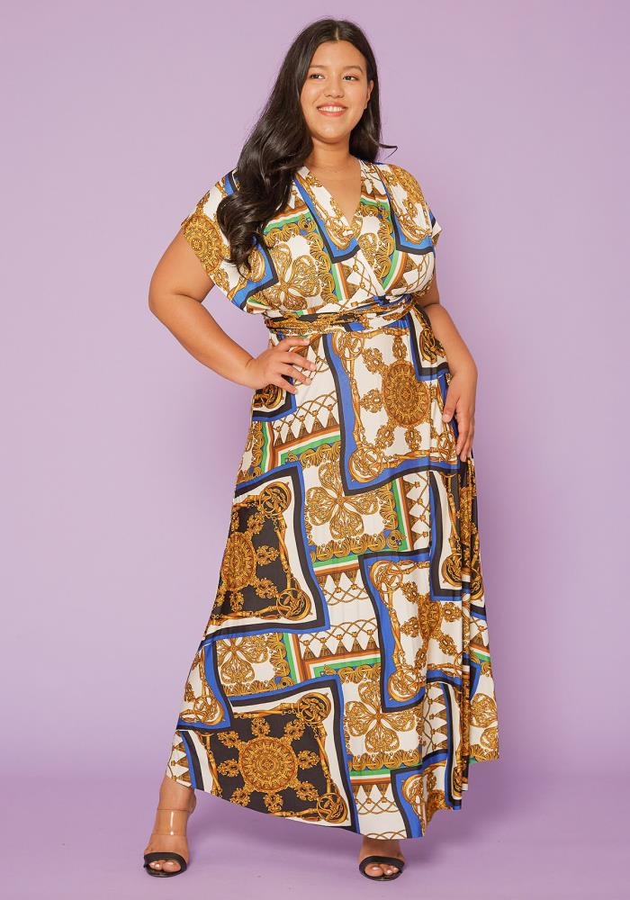Asoph Plus Size Wrap Maxi Dress | Asoph.com