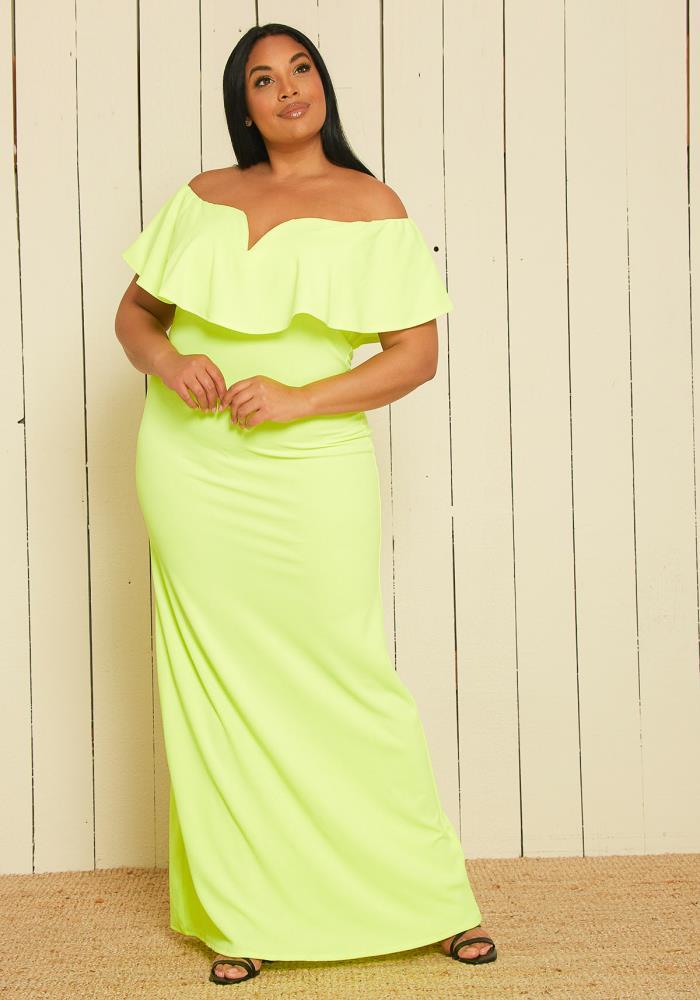 Asoph Plus Size Off Shoulder Maxi Dress   Asoph.com
