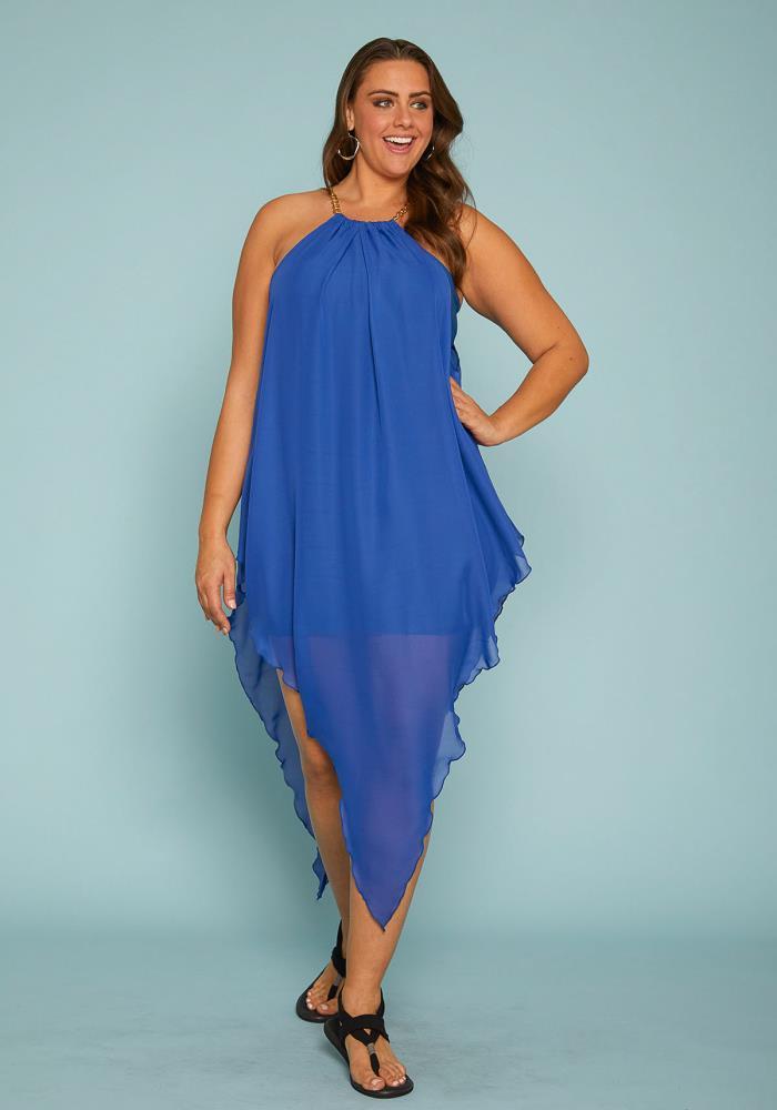 Asoph Plus Size Chiffon Handkerchief Dress | Asoph.com