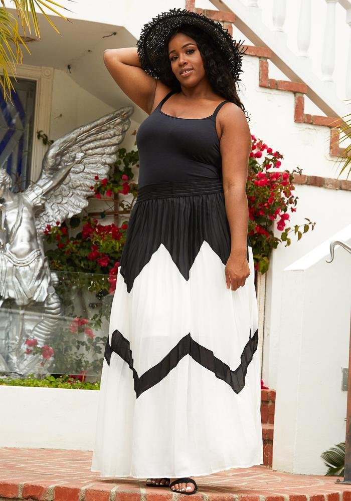 7e4f5d336 Previous. Next. 1; 2; 3; 4. STYLE #: 2007137. Asoph Plus Size Micro Pleated  Maxi Skirt. $56.00. Color