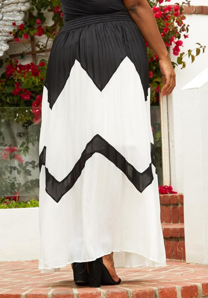 12328e54b Asoph Plus Size Micro Pleated Maxi Skirt | Asoph.com