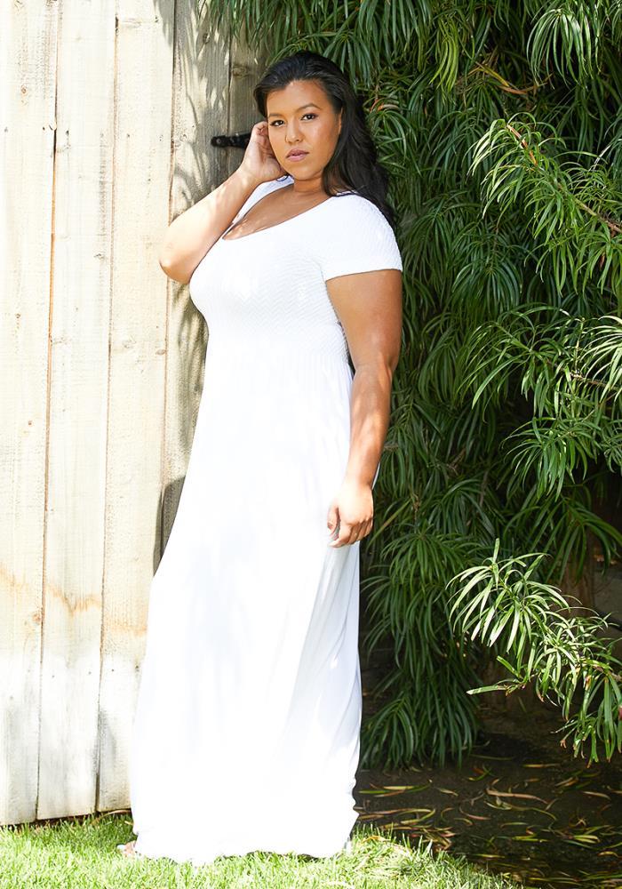 Asoph Plus Size Short Sleeve Maxi Dress | Asoph.com