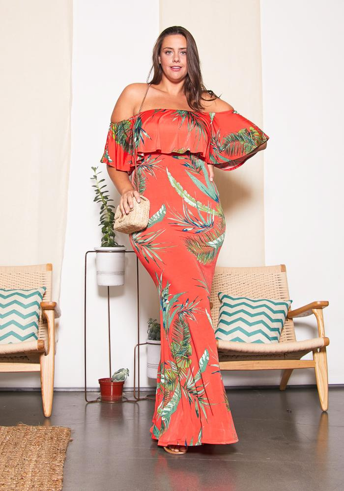 Asoph Plus Size Hawaii Maxi Dress | Asoph.com