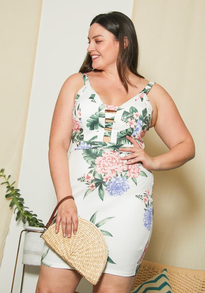 3226355248 Asoph Plus Size Oriental Flora Dress | Asoph.com