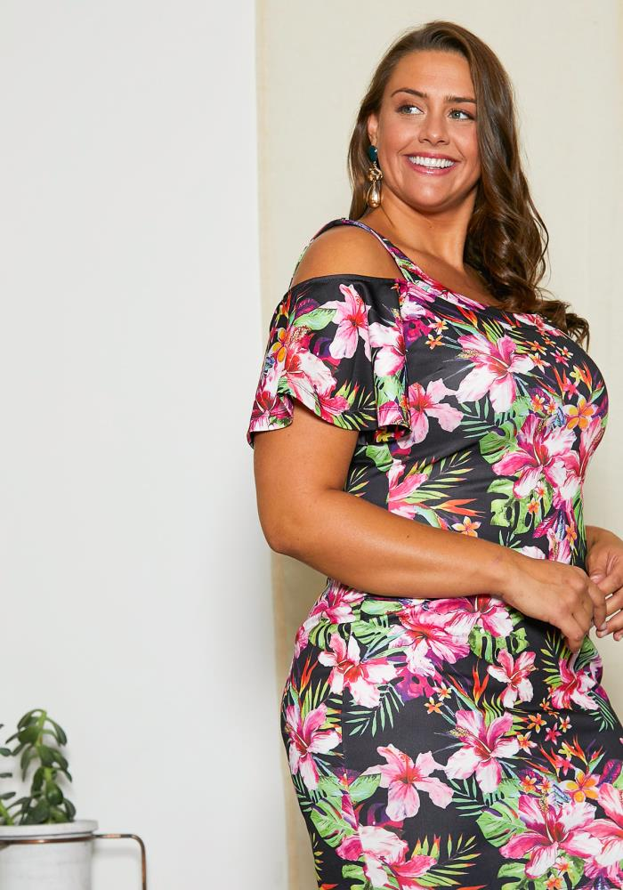 Asoph Plus Size Floral Hawaii Dress | Asoph.com