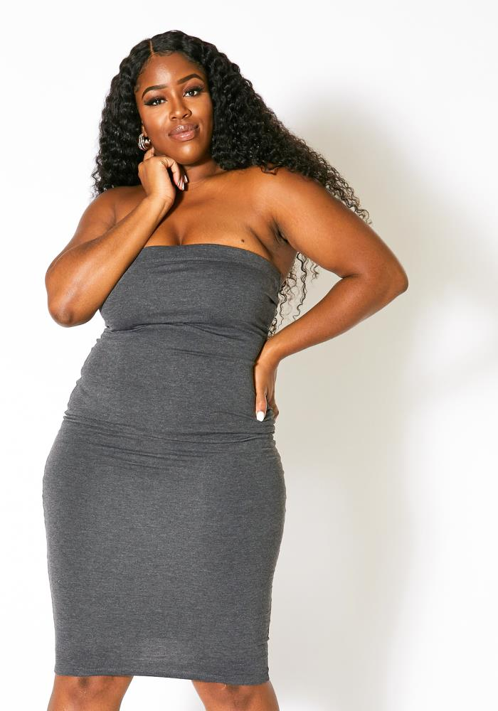 Asoph Plus Size Tube Top Must Have Bodycon Dress | Asoph.com