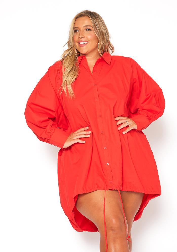Asoph Plus Size Oversized Button Up Shirt Dress | Asoph.com