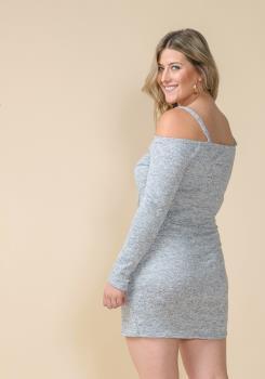 7b53de0bcd68 Asoph Plus Size Off Shoulder Wrap Mini Party Dress