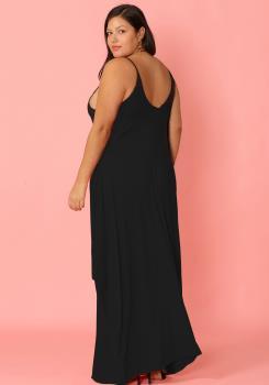 Plus Size Drappy Solid Tank Maxi Dress | Asoph.com