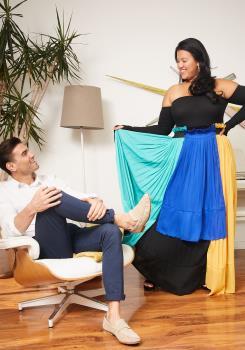 9a2454a6ea Asoph Plus Size Pleated Color Block Maxi Skirt | Asoph.com