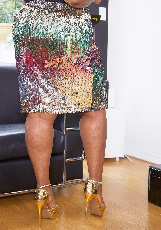 1c31e7bf Asoph Plus Size Ombre Sequin Mini Pencil Skirt   Asoph.com